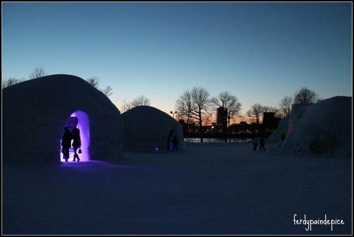 snow village montreal 2013