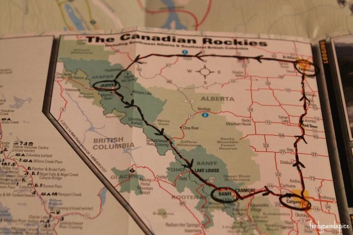 map canadian rockies
