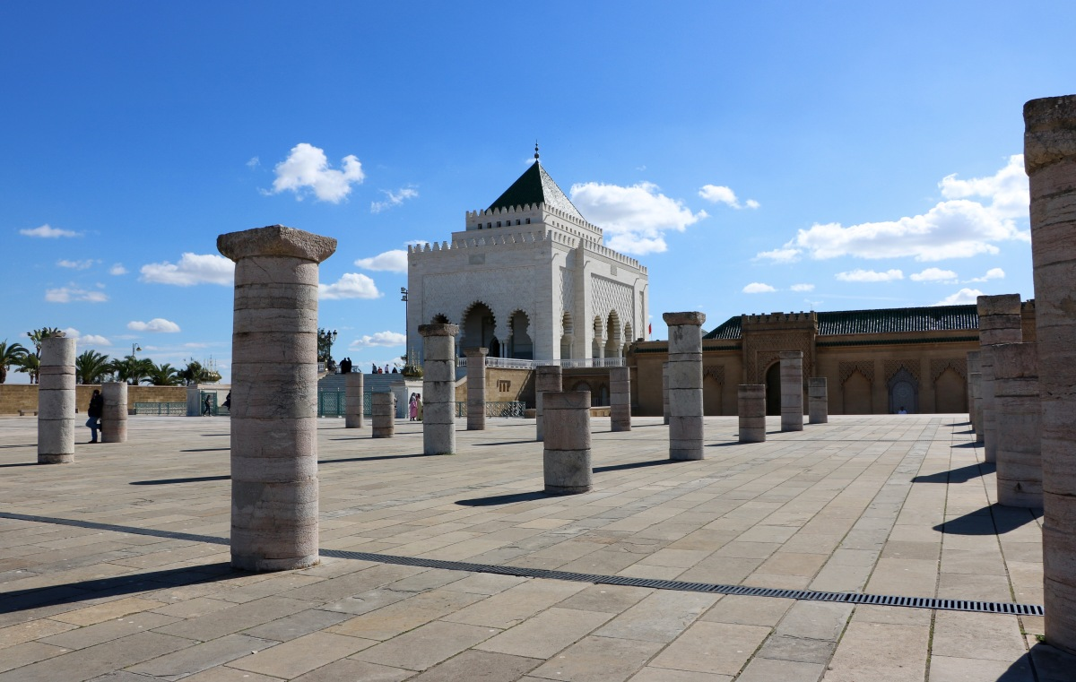Rabat : Tour Hassan & Le Palais Royal