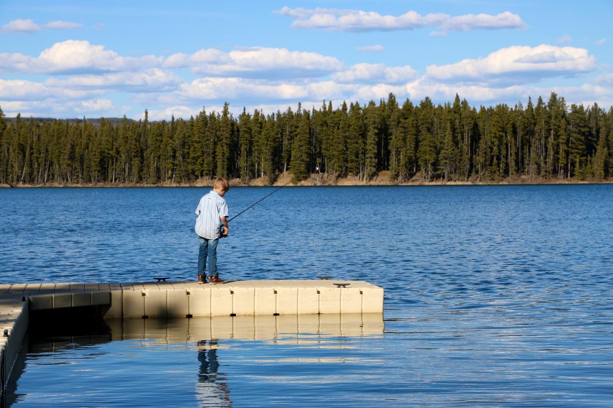 Camping au Pierre Grey's Lakes Provincial Park, AB